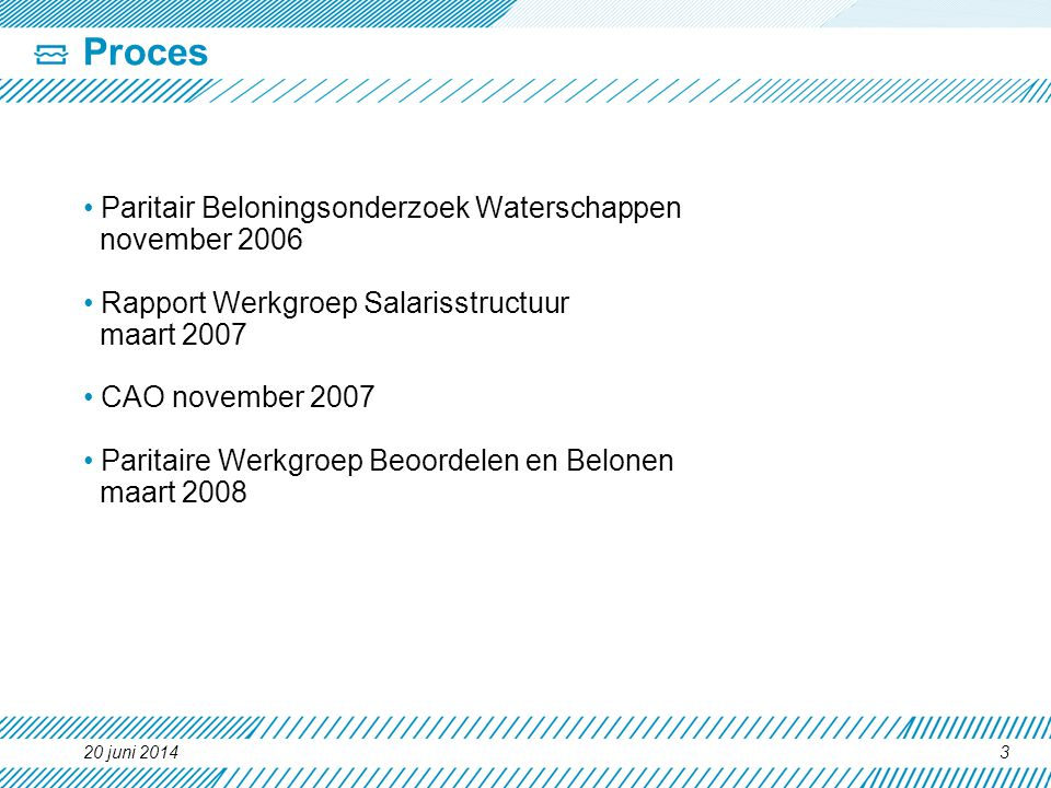 Proces Paritair Beloningsonderzoek Waterschappen november 2006