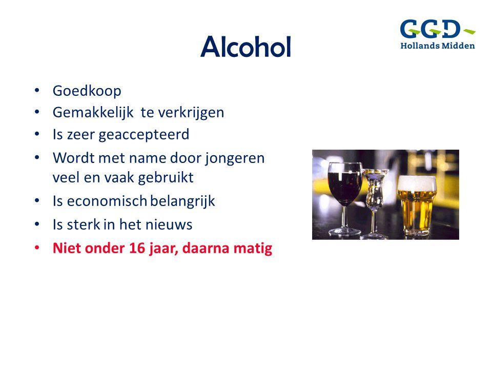 Alcohol Goedkoop Gemakkelijk te verkrijgen Is zeer geaccepteerd