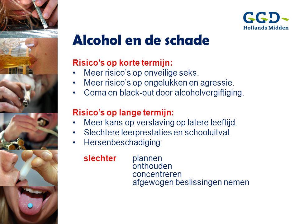 Alcohol en de schade Risico's op korte termijn:
