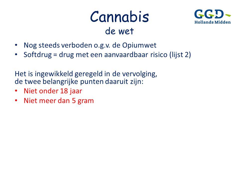 Cannabis de wet Nog steeds verboden o.g.v. de Opiumwet