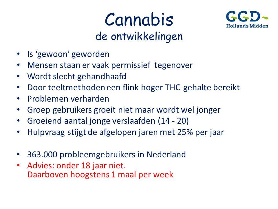 Cannabis de ontwikkelingen