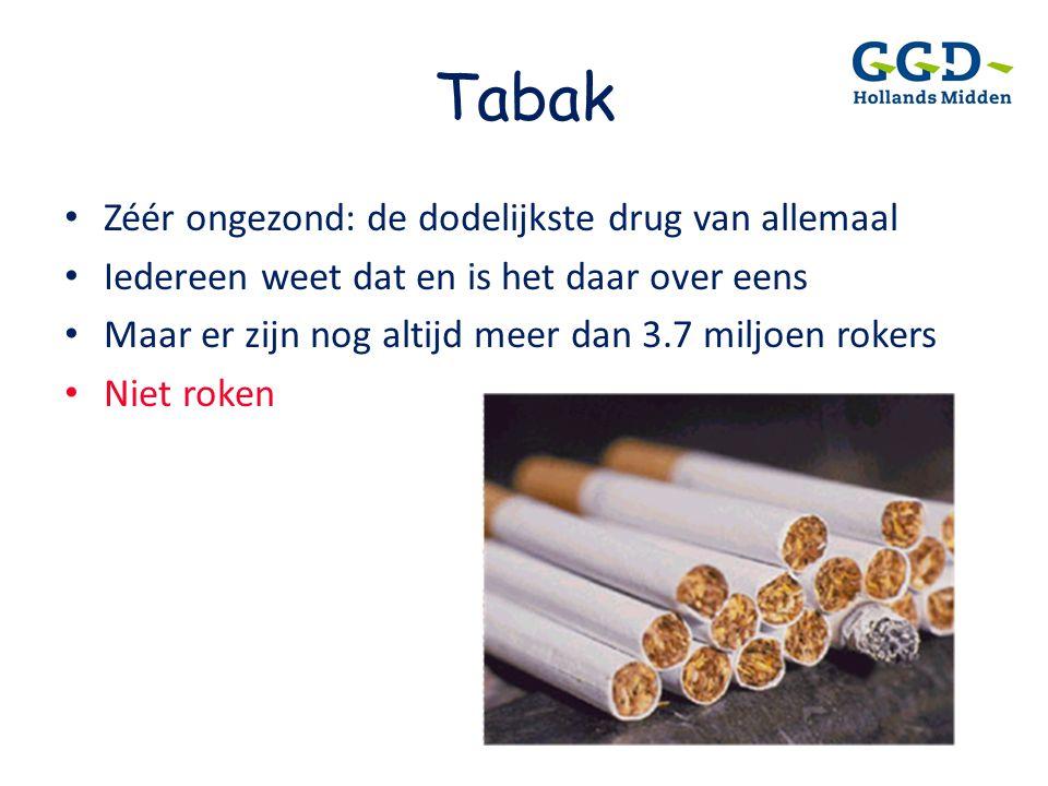 Tabak Zéér ongezond: de dodelijkste drug van allemaal