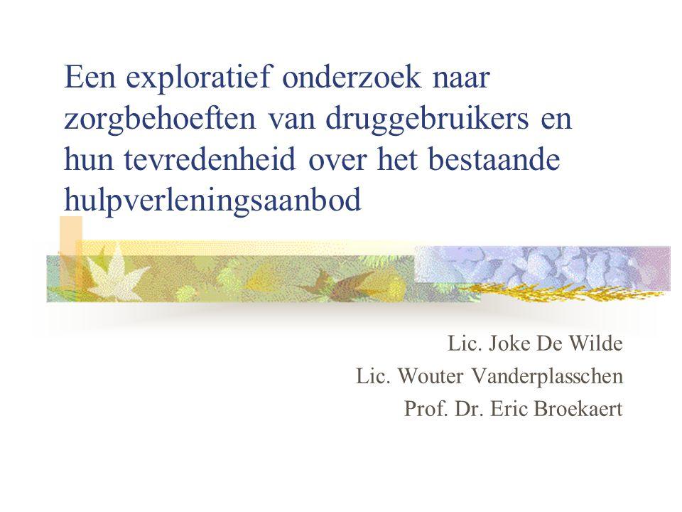 Een exploratief onderzoek naar zorgbehoeften van druggebruikers en hun tevredenheid over het bestaande hulpverleningsaanbod