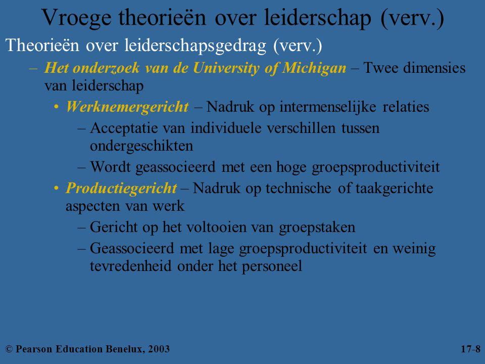 Vroege theorieën over leiderschap (verv.)