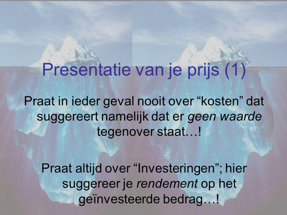 Presentatie van je prijs (1)