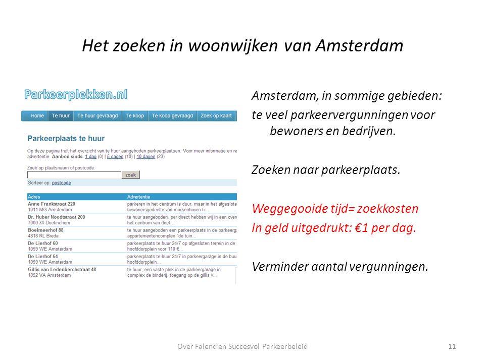 Het zoeken in woonwijken van Amsterdam