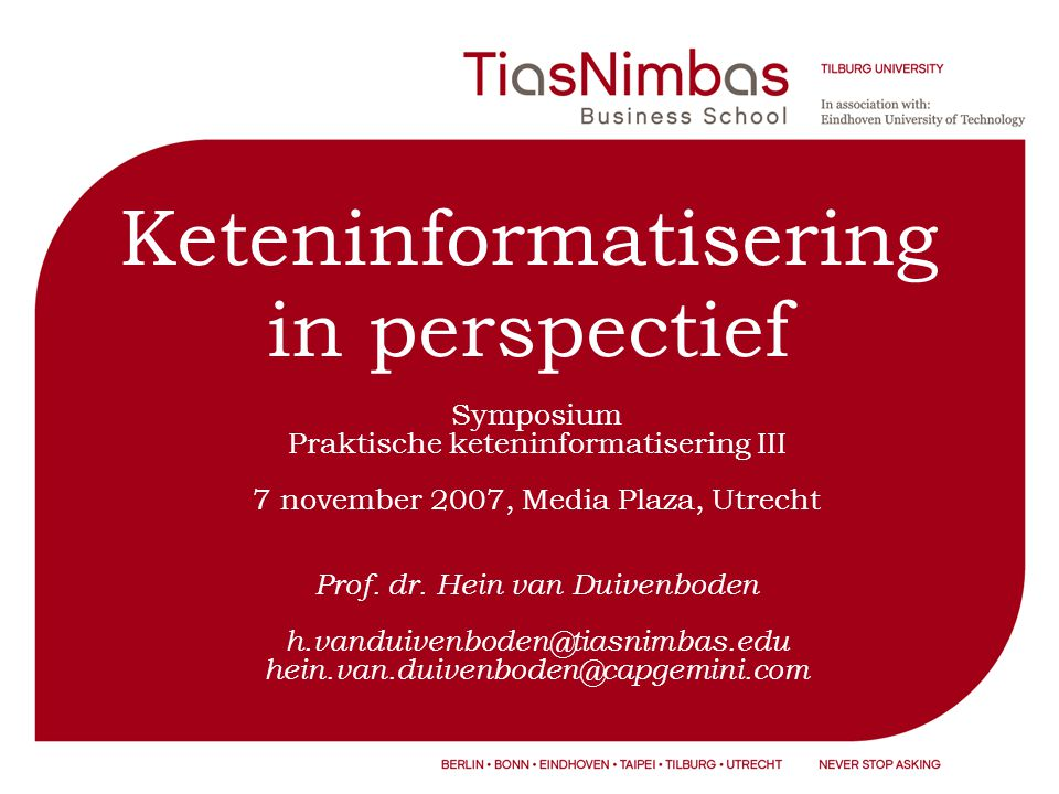 Keteninformatisering in perspectief