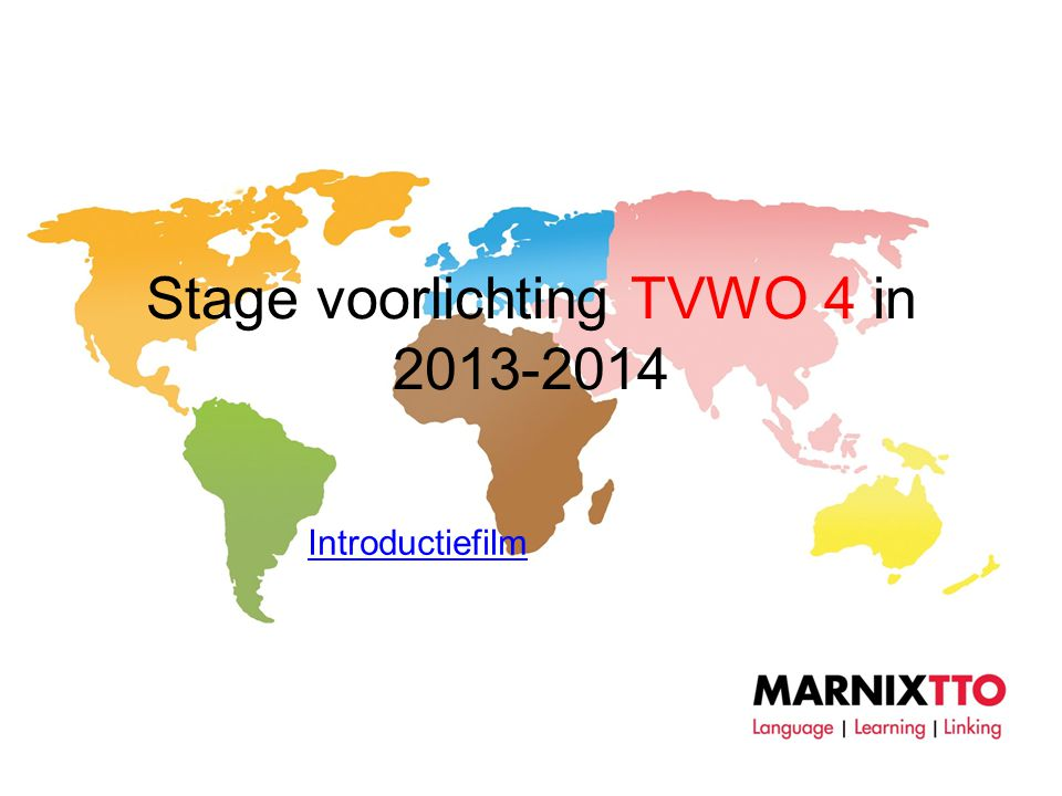 Stage voorlichting TVWO 4 in 2013-2014