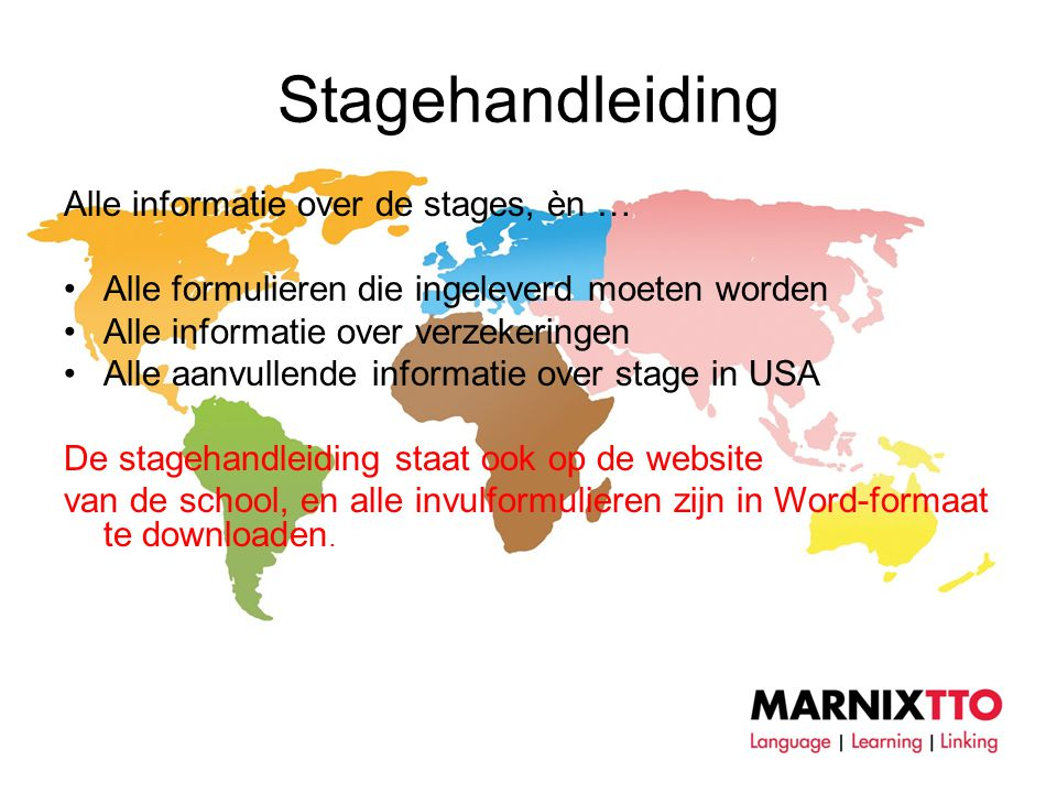 Stagehandleiding Alle informatie over de stages, èn …