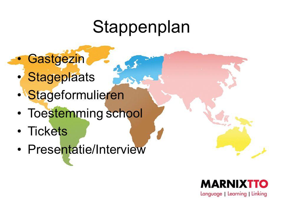 Stappenplan Gastgezin Stageplaats Stageformulieren Toestemming school
