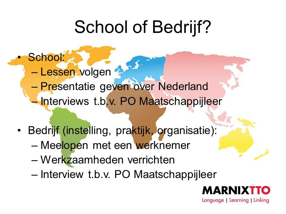 School of Bedrijf School: Lessen volgen
