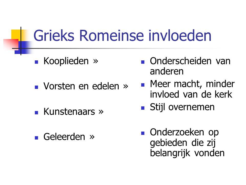 Grieks Romeinse invloeden