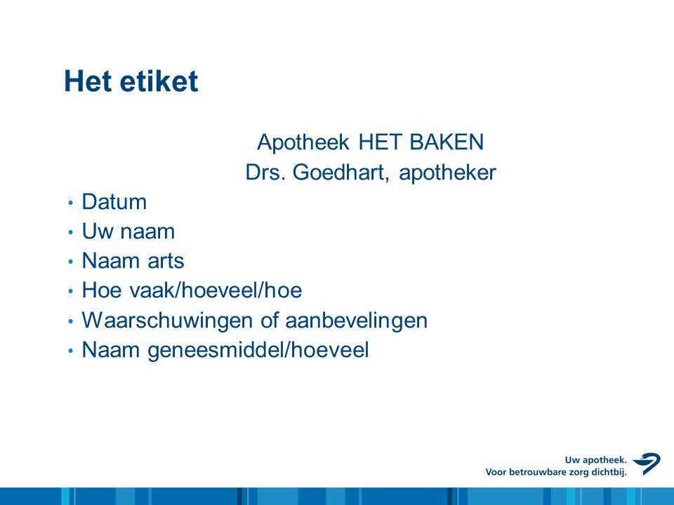 Drs. Goedhart, apotheker