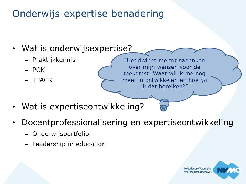 Onderwijs expertise benadering