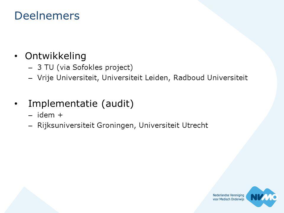 Deelnemers Ontwikkeling Implementatie (audit)