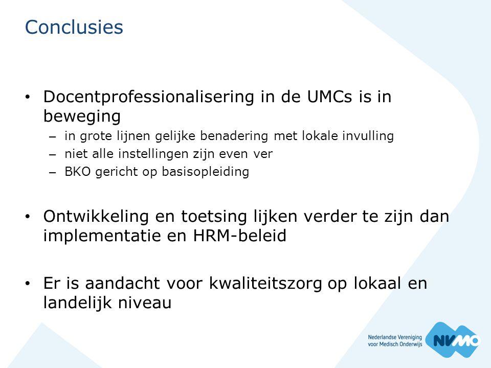 Conclusies Docentprofessionalisering in de UMCs is in beweging