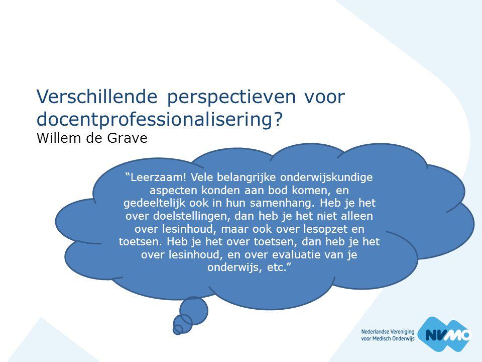 Verschillende perspectieven voor docentprofessionalisering