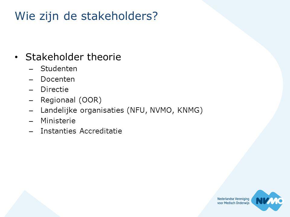 Wie zijn de stakeholders