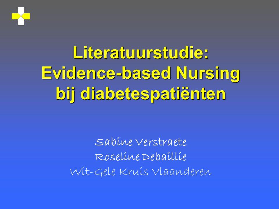 Literatuurstudie: Evidence-based Nursing bij diabetespatiënten