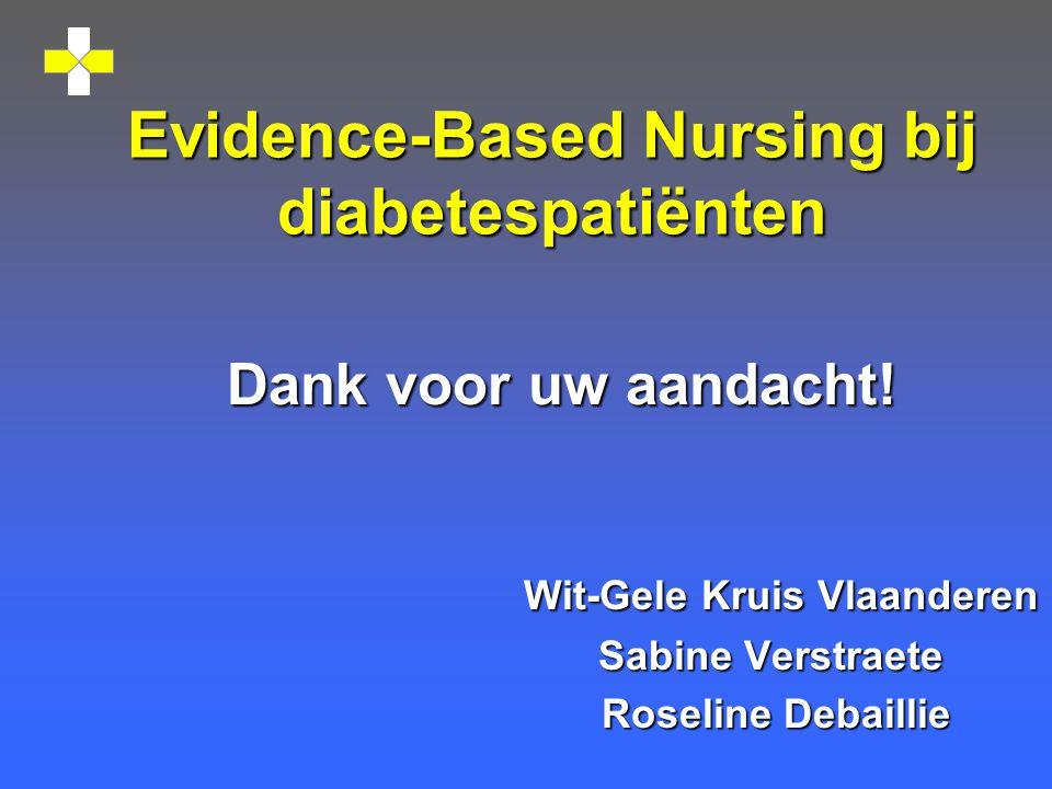 Evidence-Based Nursing bij diabetespatiënten