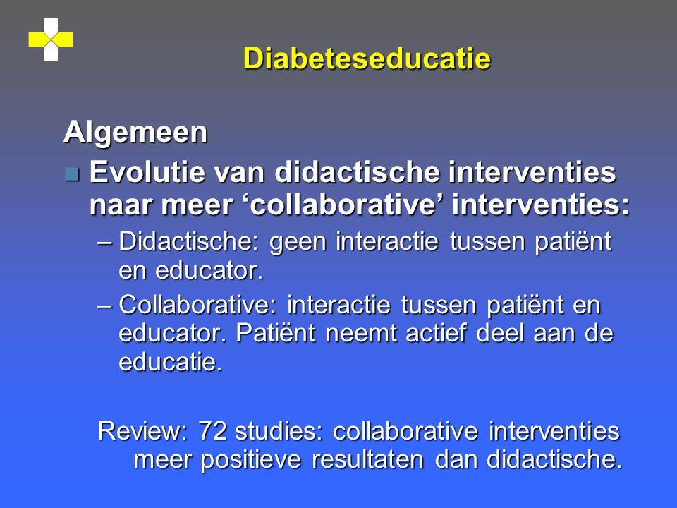Diabeteseducatie Algemeen