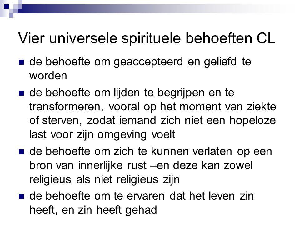Vier universele spirituele behoeften CL