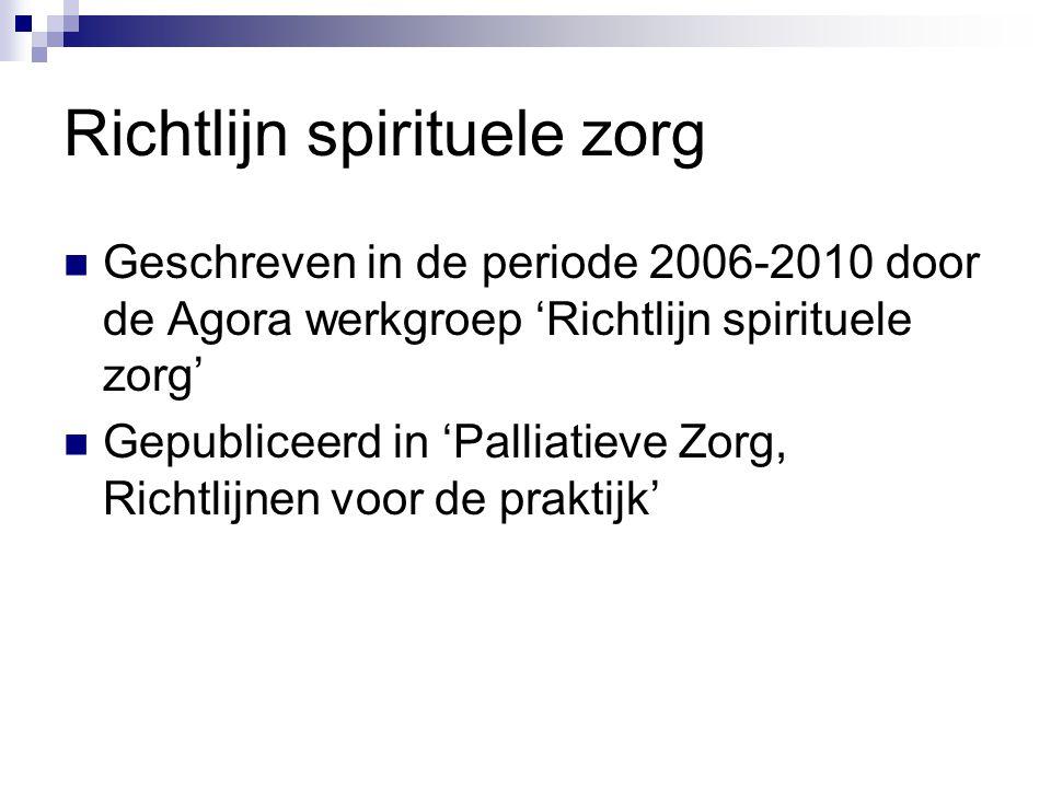 Richtlijn spirituele zorg