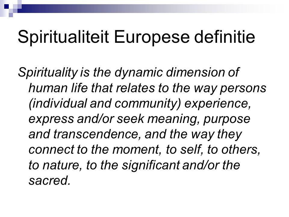 Spiritualiteit Europese definitie