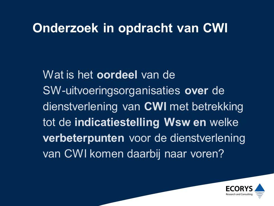Onderzoek in opdracht van CWI