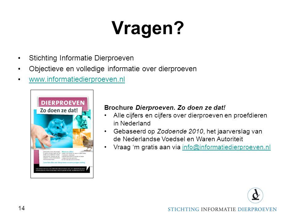 Vragen Stichting Informatie Dierproeven