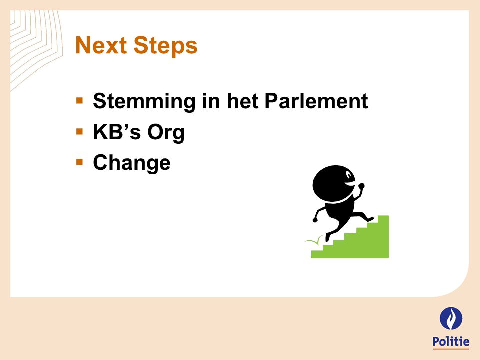 Next Steps Stemming in het Parlement KB's Org Change