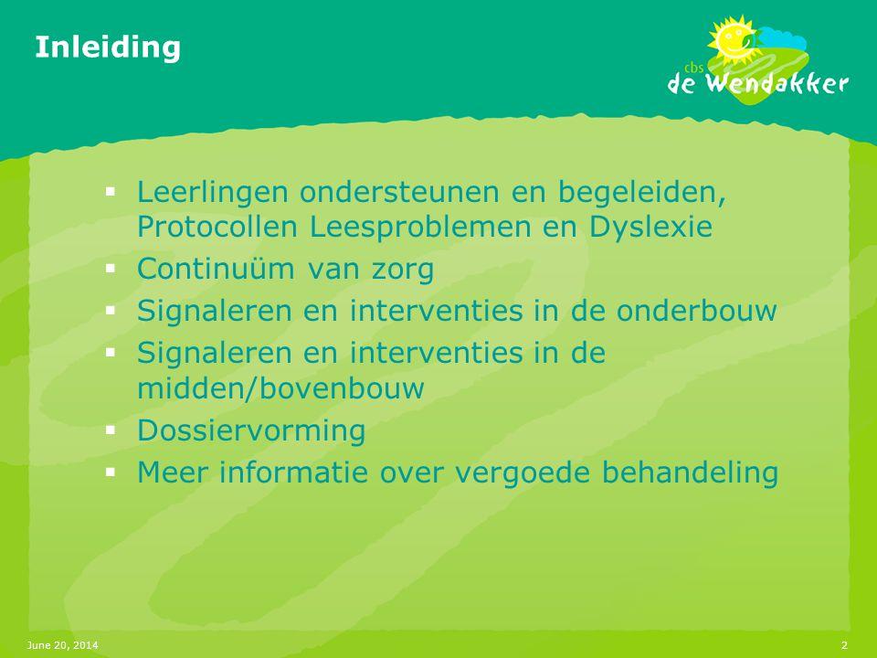 Signaleren en interventies in de onderbouw