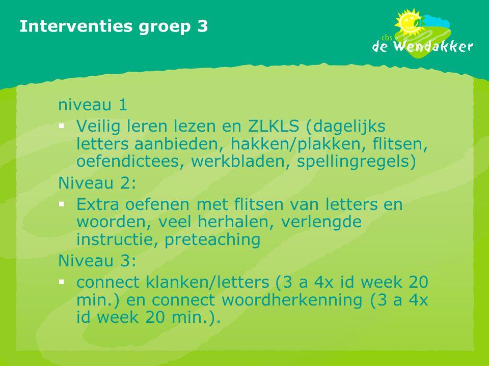 Interventies groep 3 niveau 1
