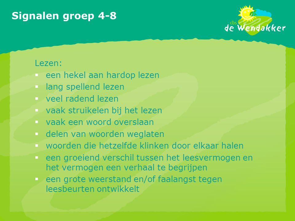 Signalen groep 4-8 Lezen: een hekel aan hardop lezen
