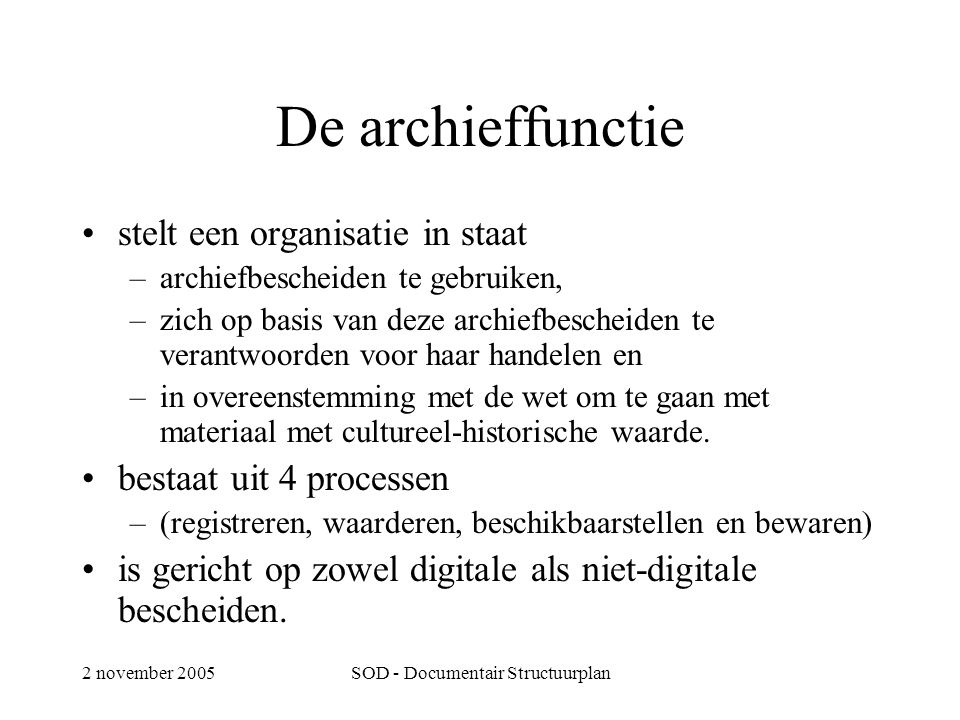SOD - Documentair Structuurplan