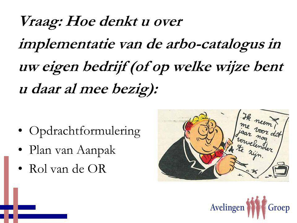 implementatie van de arbo-catalogus in