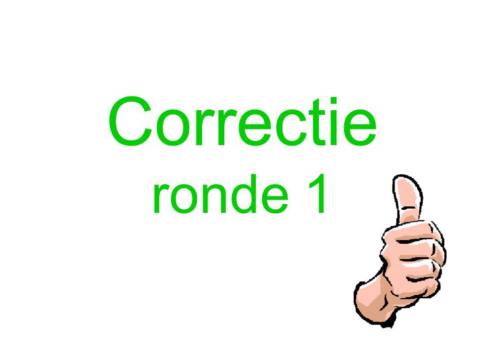 Correctie ronde 1