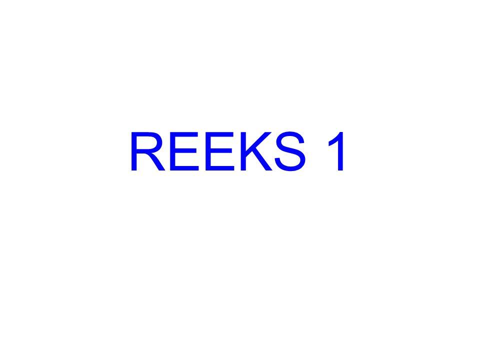 REEKS 1