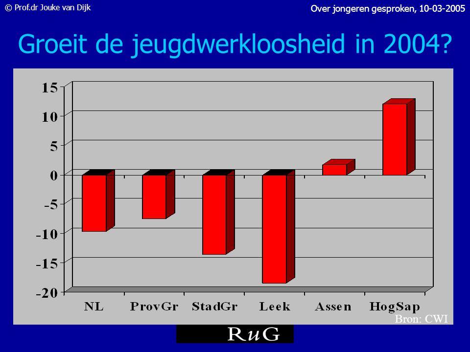 Groeit de jeugdwerkloosheid in 2004