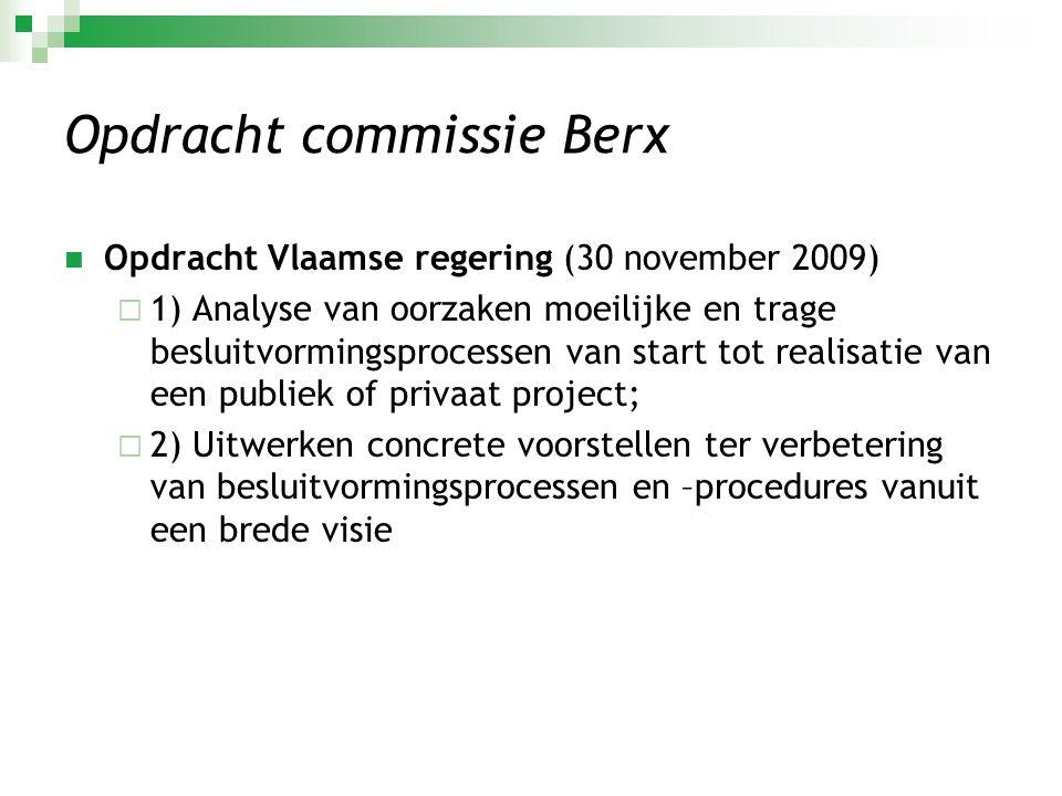 Opdracht commissie Berx