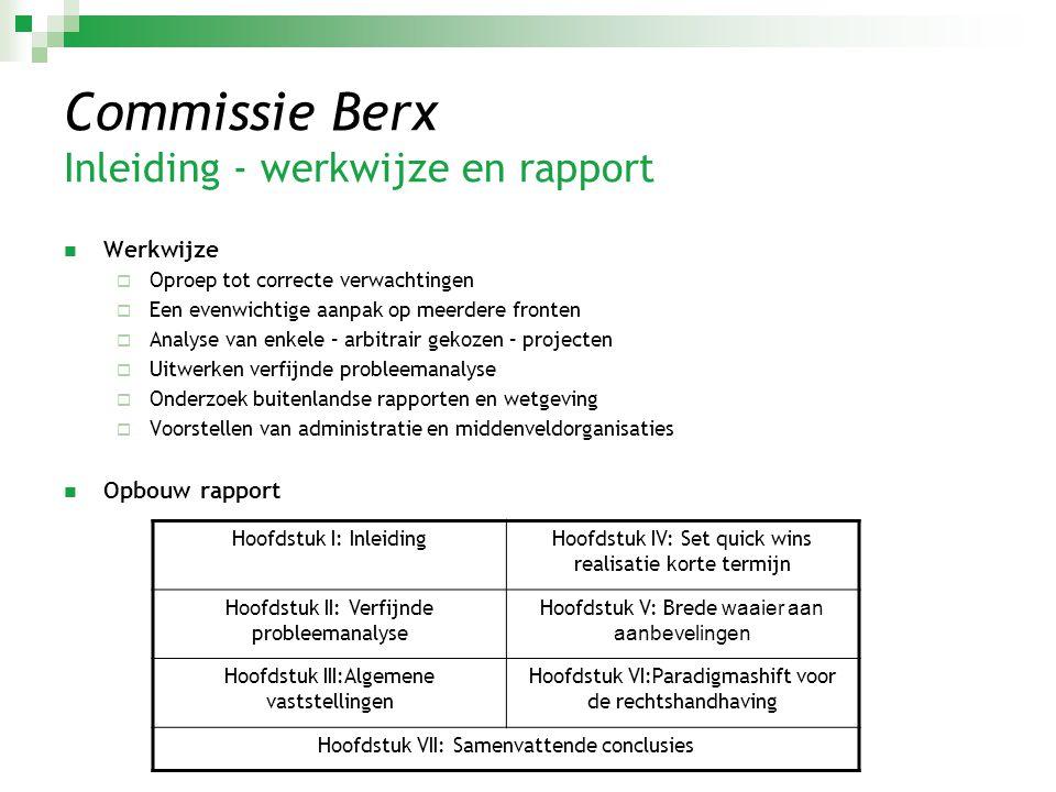 Commissie Berx Inleiding - werkwijze en rapport