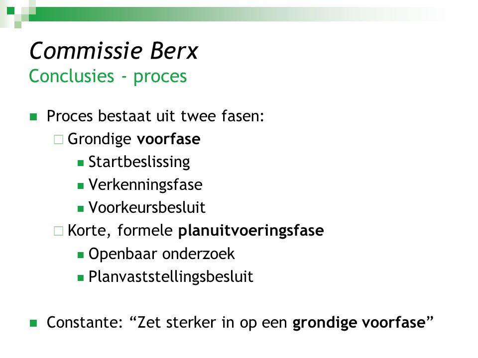 Commissie Berx Conclusies - proces