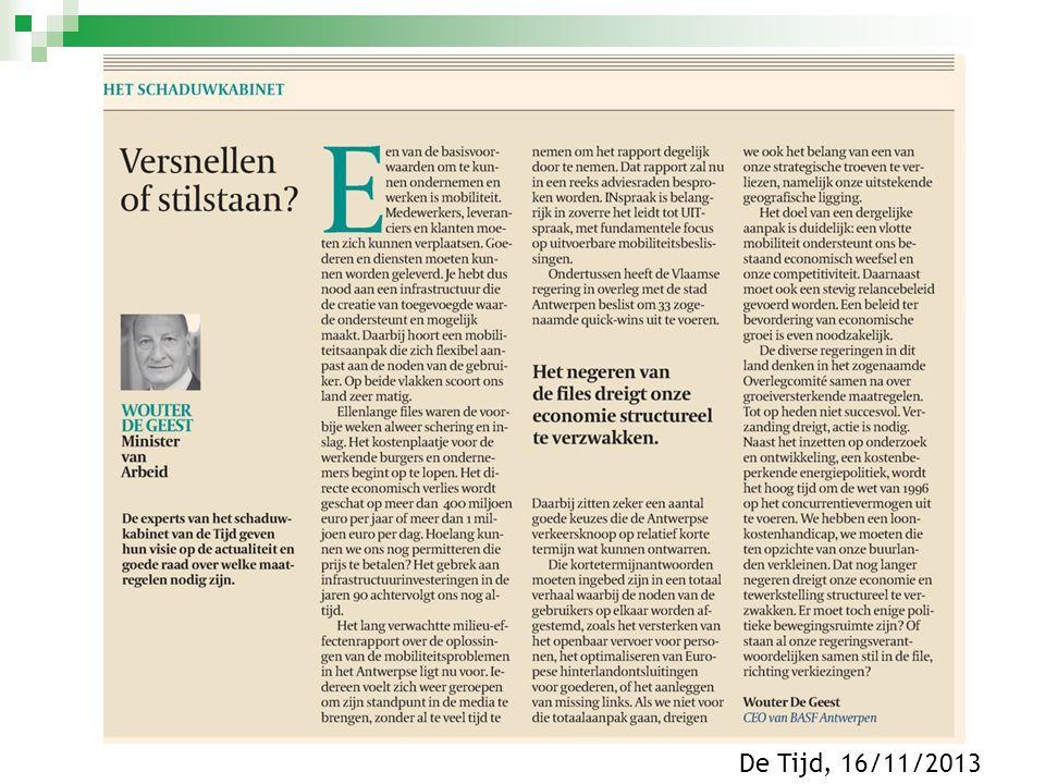 De Tijd, 16/11/2013