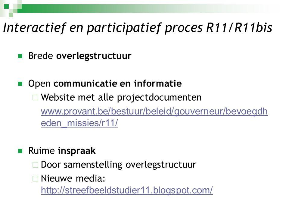 Interactief en participatief proces R11/R11bis