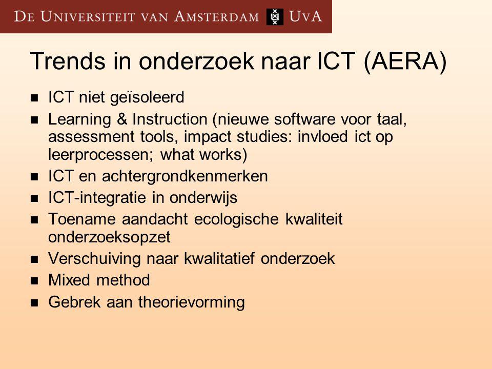 Trends in onderzoek naar ICT (AERA)