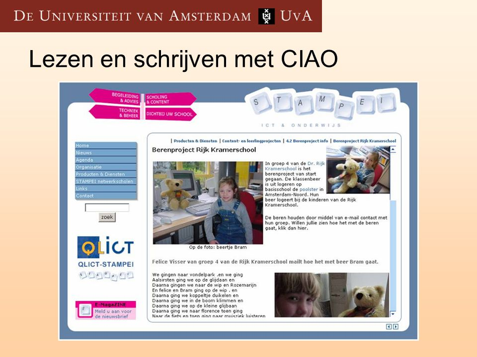Lezen en schrijven met CIAO