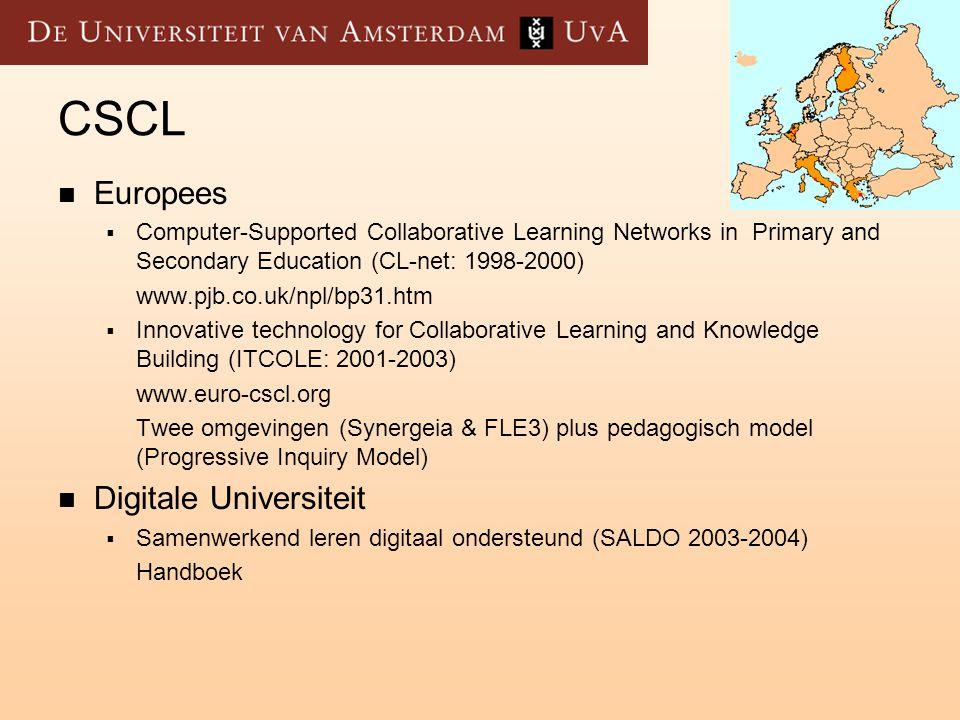 CSCL Europees Digitale Universiteit