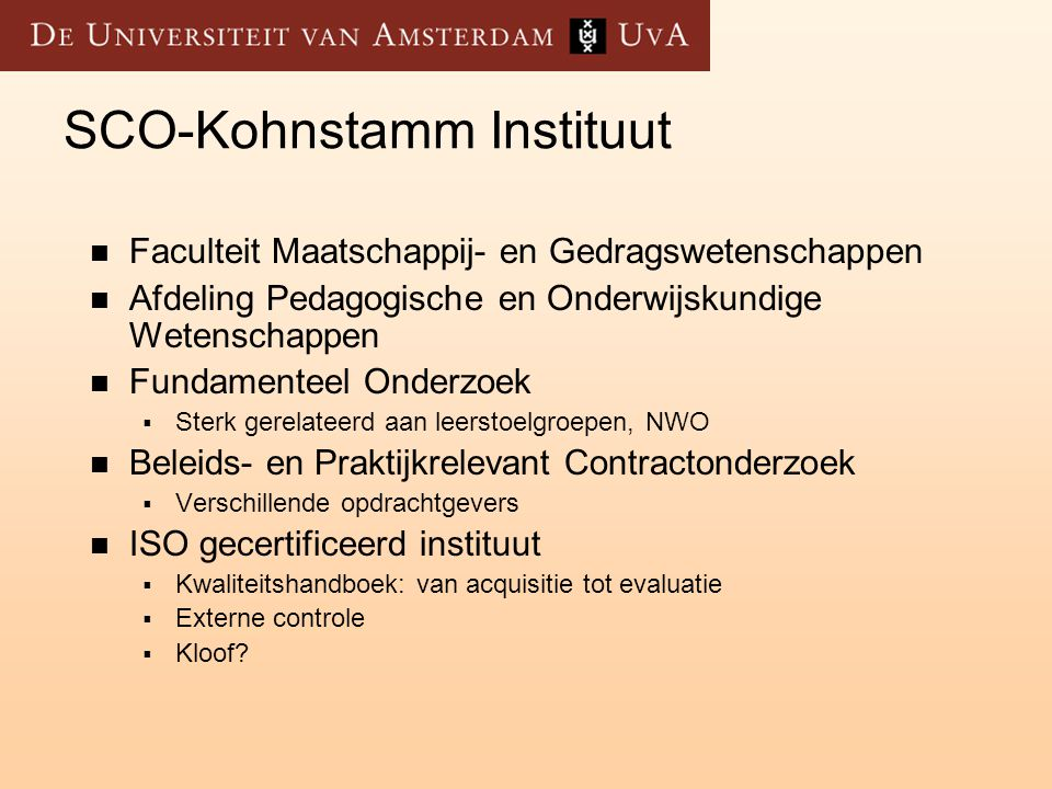 SCO-Kohnstamm Instituut