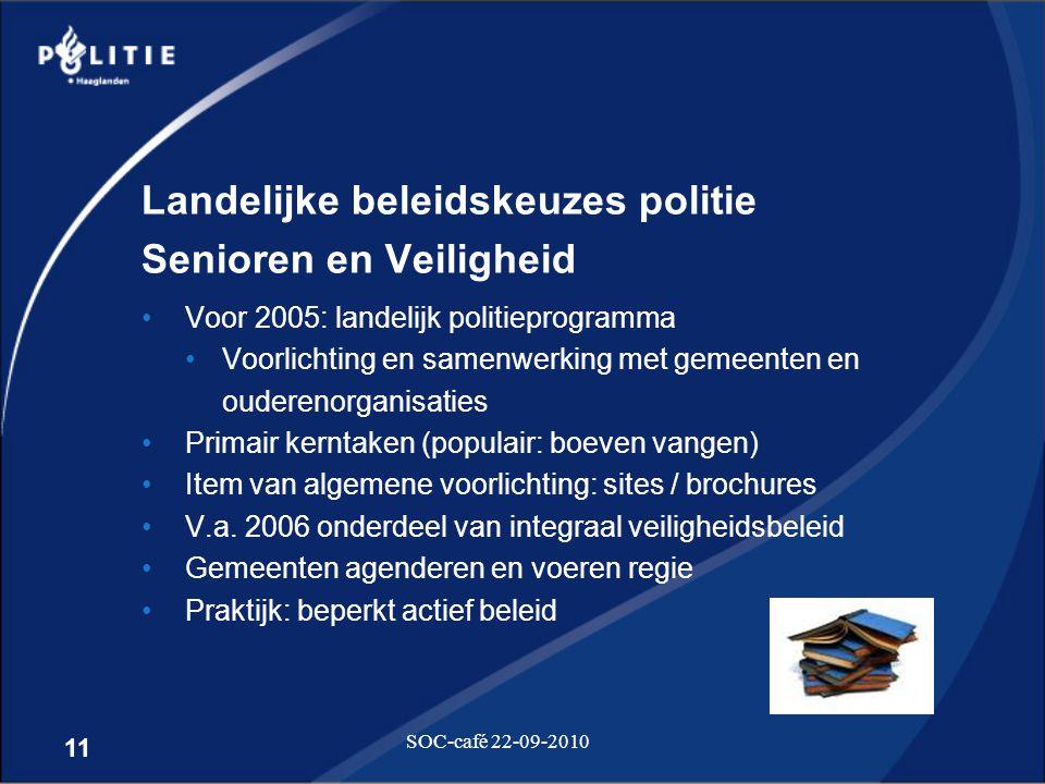 Landelijke beleidskeuzes politie Senioren en Veiligheid