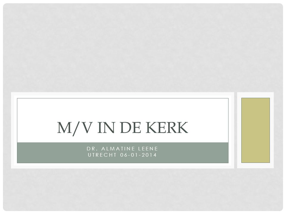 Dr. Almatine Leene Utrecht 06-01-2014